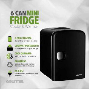 Gourmia Thermoelectric GMF600 Mini Fridge