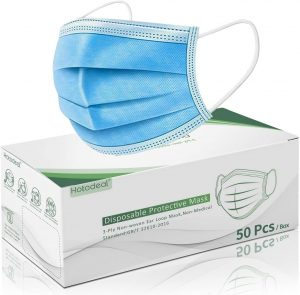 Hotodeal 3 Ply Protection Safety Mask 50 Pcs